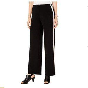 Alfani Black Wide Leg Striped Pants XL NWT